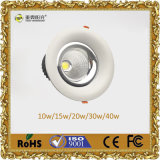 고성능 LED Downlight 새로운 Downlights 40W
