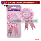 Approvisionnement rose de fête d'anniversaire de princesse Award Ribbons (P4086)