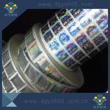 Etiqueta de holograma holografica de segurança colorida em rolo