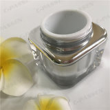 Frasco de creme acrílico de prata quadrado da série 50g para o empacotamento do cosmético (PPC-ACJ-080)
