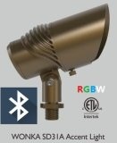Bluetooth RGBW 12V IP65 광속 각 조정가능한 LED 정원 빛