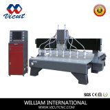 최신 판매 다중 헤드 CNC 문 만들기를 위한 목제 대패 CNC 조각 기계 (VCT-2530W-8H)