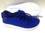 Chaussures occasionnelles confortables de sports de chaussures de toile d'injection d'enfants (FFCS111904)