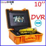 Сделайте камеру Cr110-10g осмотра трубы сточной трубы 23mm с экраном 10 '' цифров LCD & запись водостотьким DVR видео- с кабелем стеклоткани от 20m до 100m