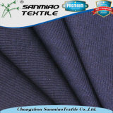 Tessuto del denim del Knit di stile della nervatura dello Spandex del cotone 5% di 95%