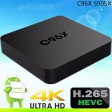 2016 Box Full HD 1080P vidéo Android C96X S905X 1g 8g Android Kodi 16,0 TV Box
