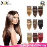 Зажим человеческих волос 613 девственницы надкожицы бразильские белокурый в выдвижении волос Remy