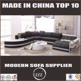 Jogo 2017 de couro moderno do sofá da mobília da sala de visitas com projeto do lazer