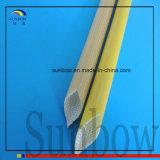 Ambre tissé par fibres de verre enduits résistants du polyuréthane Sleeving10.0mm d'effilochure