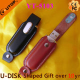 Hot Business Style Gift Leather USB Pen Drive (YT-5103)