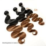 Color brasileño 1b 30# de Brown de la onda de la carrocería del pelo de la Virgen del pelo de la dicha