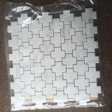 Плитка мозаики мрамора пола перекрестной формы востоковедная белая мраморный