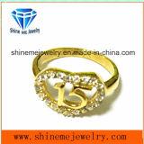 316L roestvrij staal met de Ring van de Juwelen van de Manier van CZ (SCR2958)