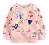 スクエア17103子供の衣服の2017年の女の子の花の印刷の羊毛Hoodies