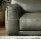 Sofa de Cornor de cuir véritable de l'Italie de modèle moderne
