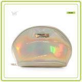 Gute Qualitätsheißer verkaufenshell-Form-glänzender kosmetischer Beutel