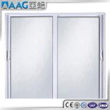 Fenêtres en aluminium et portes Double vitrage Porte coulissante en verre courbé