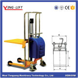 Empilhador de plataforma elétrica hidráulica com 200kg de capacidade