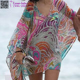Beachwear atractivo L38470 de la funda larga