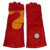 Перчатки заварки двойной безопасности кожи ладони работая