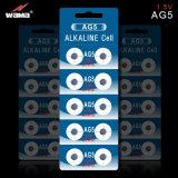 Batteria alcalina delle cellule del tasto di AG5 1.5V