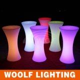 LEDの白熱プラスチック高い照らされた上の低い小テーブル