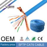 Cable de LAN de cobre de alta velocidad de Sipu 24AWG SFTP CAT6
