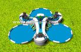 Corrediça inflável do chimpanzé de três pistas com piscina três