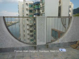 Railing нержавеющей стали балюстрады стального поручня стеклянный для строительного материала