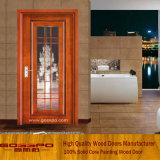 Porte en bois moderne de balcon en verre givré (GSP3-003)