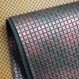 Geprägtes Rattan geflochtenes Rasterfeld künstliches PU-Leder für Beutel-Handtasche