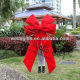 Смычок красного бархата украшения рождества гигантский