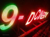 Personalizar a letra de canaleta iluminada face do diodo emissor de luz do RGB do metal para o sinal do anúncio ao ar livre