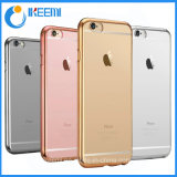 Lujo Plating parachoques Transparente Soft Mobile TPU Phone Case para iPhone 7 / 7plus / Nota 7