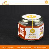 Escrituras de la etiqueta de empaquetado de las etiquetas engomadas de la botella auta-adhesivo impermeable de la miel