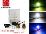 Lâmpada principal dianteira! Farol do diodo emissor de luz 9005 Hb3 duas vezes mais brilhante que a lâmpada ESCONDIDA