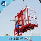 Elevador da grua da construção para construir com a gaiola dobro ou única MEADOS DE da velocidade