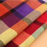 tessuto viscoso della camicia di plaid di vendita 2016hot per la molla/indumento di estate