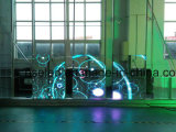 Mur visuel hautement transparent de vidéo de la façade DEL de /Media d'écran d'Afficheur LED d'espace libre de mur en verre DEL
