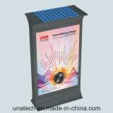Stand de publicité solaire extérieur mettant en rouleau librement le cadre Mupis d'éclairage LED