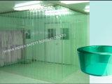 Ontruim/het Groene/Gele Gordijn van pvc