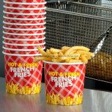 Patatas fritas revestidas del PE que empaquetan el papel