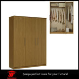 Preço de madeira de Almirah das portas modernas simples Home do luxo 3 do projeto do Wardrobe da parede do quarto da mobília da sala de visitas