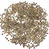 De gouden Geplateerde Ring Omrande Bergkristallen van het Kristal Flatback voor Decor Cellphone (HF-Ss20 saffier)