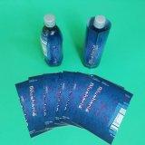 Escritura de la etiqueta del encogimiento del PVC para las botellas