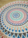 熱い販売によって印刷される綿の円形のビーチタオル