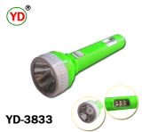 1W Rechargeable ABS Plastic Flashlight