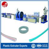 Máquina clara transparente trenzada de la protuberancia del tubo de agua del PVC de la fibra plástica