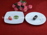 Articoli per la tavola a forma di del piatto del quadrato di ceramica quotidiano di uso dalla Cina