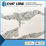 Pedra artificial de quartzo do ouro de Calacatta, bancadas brancas da pedra de quartzo de Calacatta